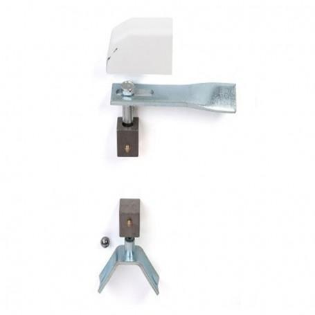 Pivot de portail métallique à sceller  - pour tube acier carré - Photo