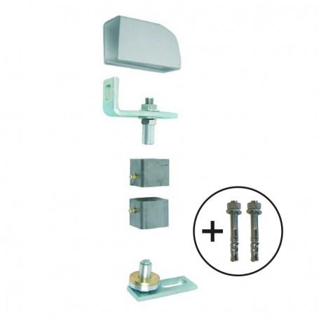 Pivot de portail métallique à visser  - pour tube acier carré - Photo