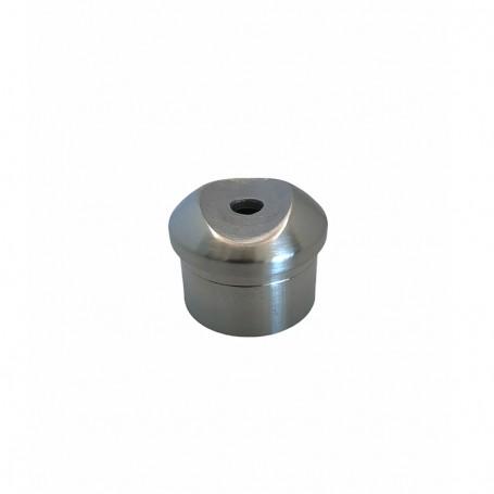 Support de main courante simple pour poteaux rond inox - Photo