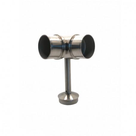 Support de main courante d'angle réglable pour poteaux rond inox - Photo